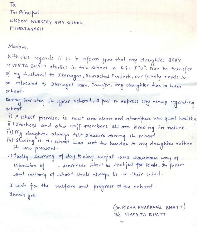 Testimonial for Wisdom Nursery School